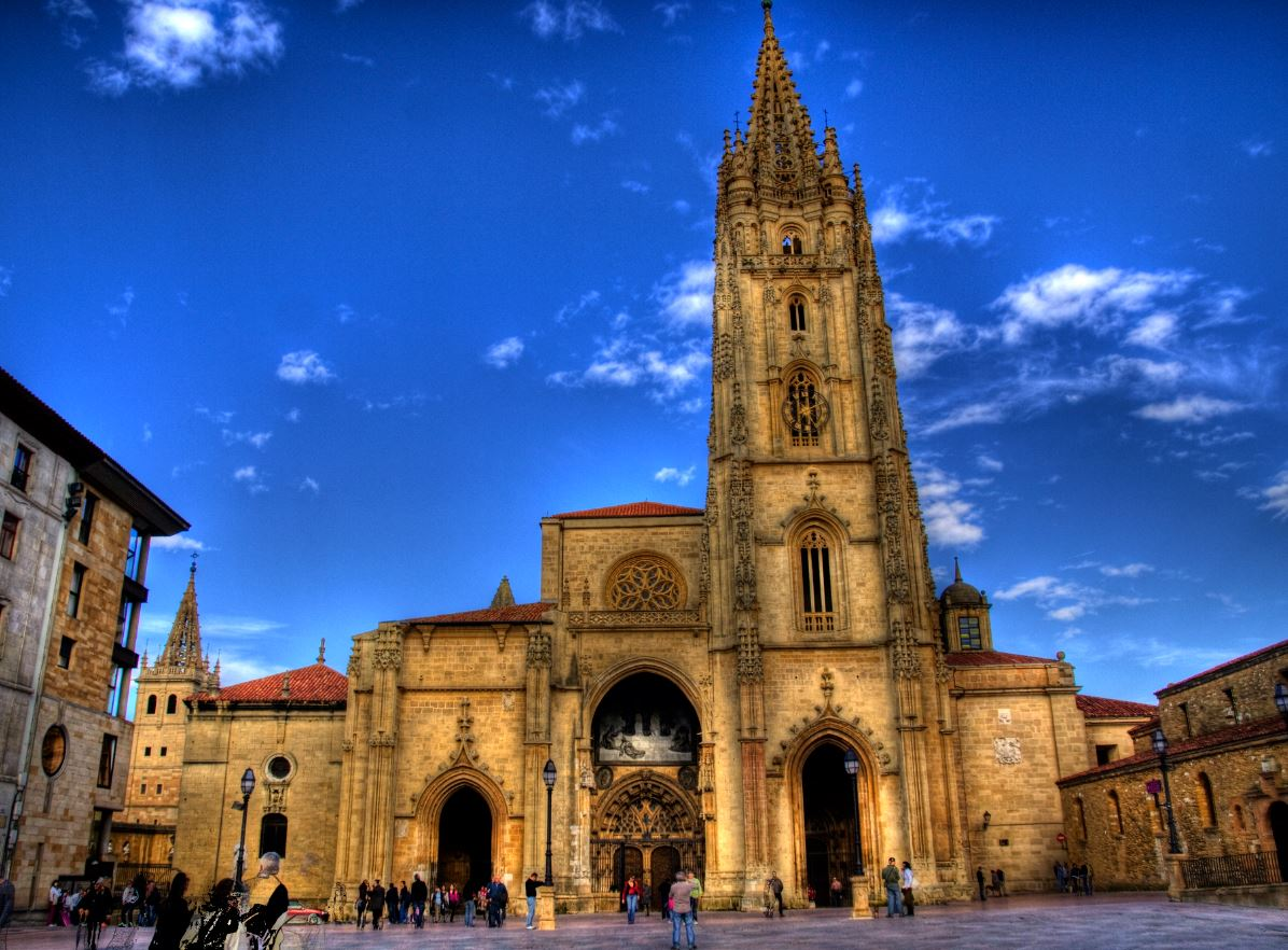 Oviedo cathedral, north Spain tourism