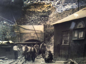 Old entrance of the famous Panasqueira Mine, Portugal