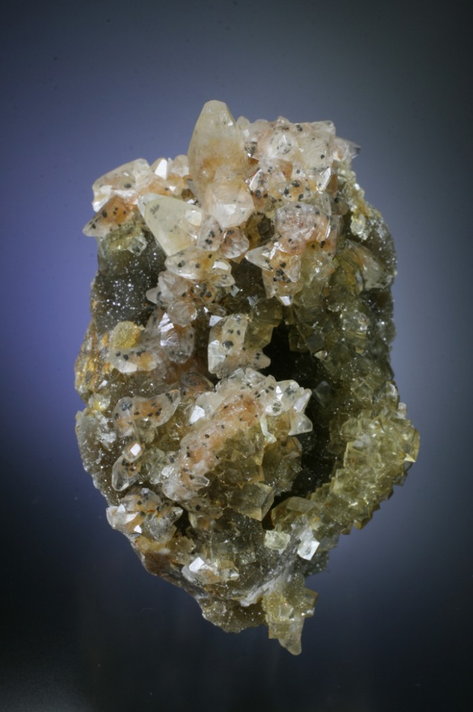 Rare calcite with fluorite
