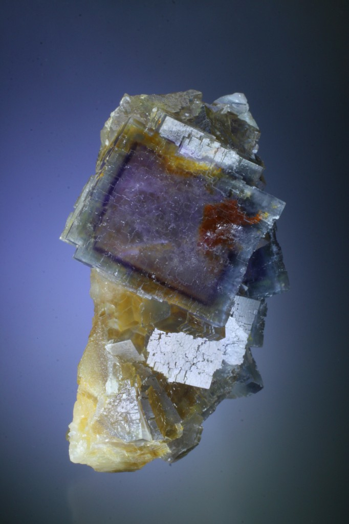 Fluorite colored by odd inclusions