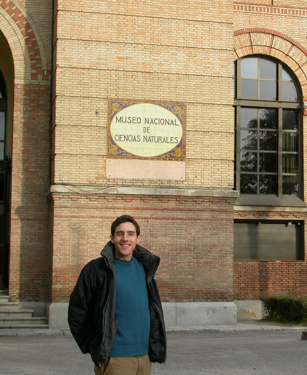Juan at the museum entrance back in 2005!